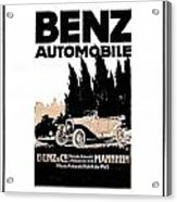 1914 - Benz Automobile Poster Advertisement - Color Acrylic Print