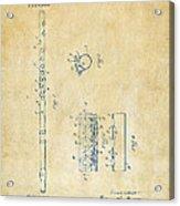 1914 Flute Patent - Vintage Acrylic Print