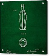 1915 Coca Cola Bottle Design Patent Art 4 Acrylic Print