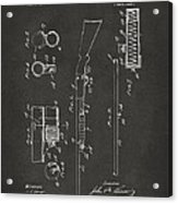 1915 Ithaca Shotgun Patent Gray Acrylic Print