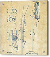 1915 Ithaca Shotgun Patent Vintage Acrylic Print