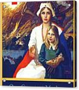 1917 - Red Cross Nursing Recruiting Poster - World War One - Color Acrylic Print