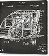 1917 Glenn Curtiss Aeroplane Patent Artwork 3 - Gray Acrylic Print