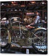 1917 Harley Davidson Acrylic Print