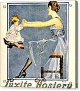 1918 - Luxite Hosiery Advertisement - Color Acrylic Print