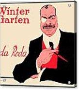 1918 - Wintergarten Poster - Roda Roda - Stephan Krotowski - Color Acrylic Print
