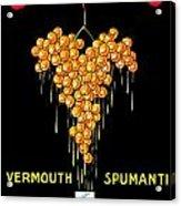 1919 - Conzano Vermouth Advertisement Poster - Color Acrylic Print