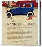 1919 - Franklin Sedan Advertisement - Color Acrylic Print