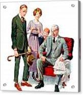1920 - Life Magazine Cover - Engagement - J F Kernan - January 29 - Color Acrylic Print