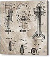 1920 Clock Patent Acrylic Print