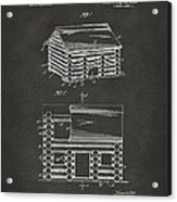 1920 Lincoln Logs Patent Artwork - Gray Acrylic Print