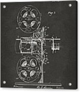 1920 Motion Picture Machine Patent Gray Acrylic Print