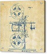 1920 Motion Picture Machine Patent Vintage Acrylic Print