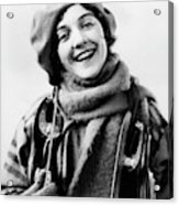 1920s 1930s Smiling Woman Dressed Acrylic Print