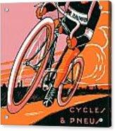 1921 - Van Hauwaert Bicycle Belgian Advertisement Poster - Color Acrylic Print