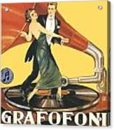 1922 - Columbia Gramophone Company Italian Advertising Poster - Color Acrylic Print