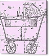 1922 Baby Carriage Patent Art Pink Acrylic Print