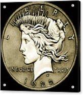1922 Circulated Peace Dollar Acrylic Print