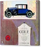 1922 - Cole 890 - Advertisement - Color Acrylic Print