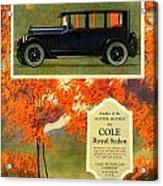 1923 - Cole Royal Sedan - Advertisement - Color Acrylic Print