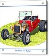 T Bucket Ford 1923 Acrylic Print