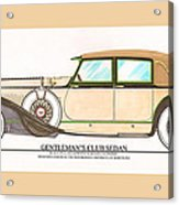 1923 Hispano Suiza Club Sedan By R.h.dietrich Acrylic Print