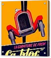 1924 - Ca-bloc Brakes French Advertisement Poster - Color Acrylic Print