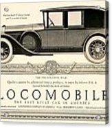 1924 - Locomobile Victoria Sedan Automobile Advertisement Acrylic Print