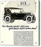 1924 - Oldsmobile Six Automobile Advertisement Acrylic Print