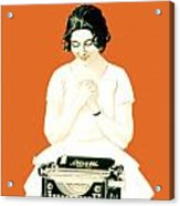1924 - Olivetti Typewriter Advertisement Poster - Color Acrylic Print