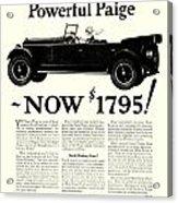1924 - Paige Automobile Advertisement Acrylic Print