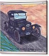 1924' Ford Model-t Touring Acrylic Print