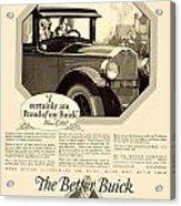 1925 - Buick Automobile Advertisement Acrylic Print