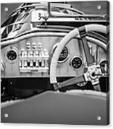 1925 Aston Martin 16 Valve Twin Cam Grand Prix Steering Wheel -0790bw Acrylic Print