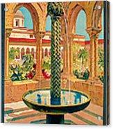 1925 Monreale Vintage Travel Art Acrylic Print