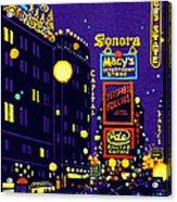 1925 New York City At Night Acrylic Print