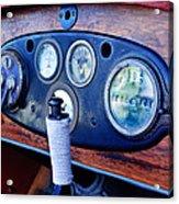 1925 Stutz Series 695h Speedway Six Torpedo Tail Speedster Dashboard Instruments Acrylic Print