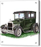 1926 Ford Tudor Sedan Street Rod Acrylic Print
