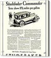 1927 - Studebaker Commander Automobile Advertisement Acrylic Print