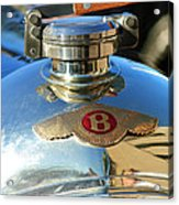 1927 Bentley Hood Ornament Acrylic Print
