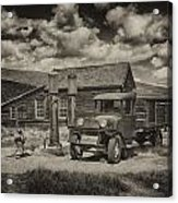 1927 Dodge Braham Bodie Ca Sepia Img 7299 Acrylic Print