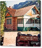 1927 Pendley Homestead House Sedona Acrylic Print