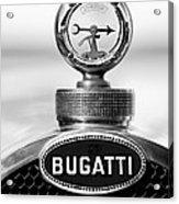 1928 Bugatti Type 44 Cabriolet Hood Ornament - Emblem Acrylic Print