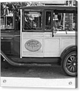1928 Chevy Half Ton Pick Up In Black And White Acrylic Print