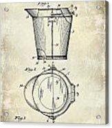 1928 Milk Pail Patent Drawing Acrylic Print