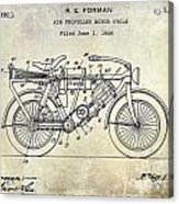 1928 Motorcycle Patent Drawing Acrylic Print