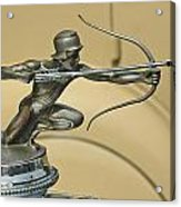 1928 Pierce Arrow Helmeted Archer Hood Ornament Acrylic Print