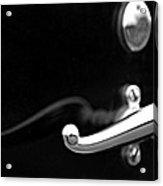 1928 Rolls-royce Phantom 1 Door Handle Black And White Acrylic Print
