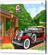 1929 Cadillac Dual Cowl Phaeton And Pegasus Acrylic Print
