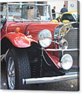 1929 Mercedes Benz Front And Side View Acrylic Print